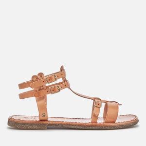 Hudson London Women's Maquinna Leather Flat Sandals - Natural