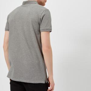Maison Kitsuné Men's Tricolor Fox Patch Polo Shirt - Grey Melange: Image 2