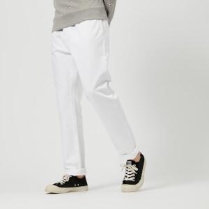 Maison Kitsuné Men's Overdye Big K Jeans - White