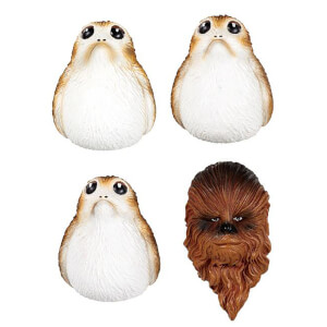 Star Wars Episode VIII Fridge Magnets Chewbacca and Porgs
