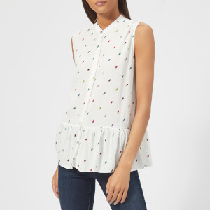 PS by Paul Smith Women's Ice Lolly Peplum Top - Cream