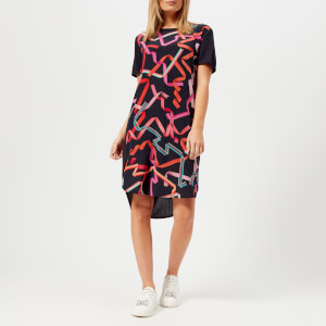 PS by Paul Smith Women's Ribon Front T-Shirt Dress - Navy