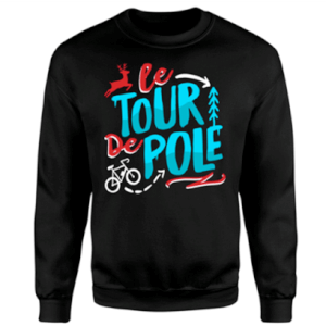 PBK Christmas Le Tour De Pole Black Sweatshirt