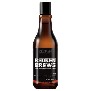 Redken Brews 3-In-1 Shampoo, Conditioner and Body Wash 10.1 oz