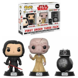 Lot de 3 Figurines Pop! EXC Star Wars, épisode VIII : Les Derniers Jedi - Les Méchants