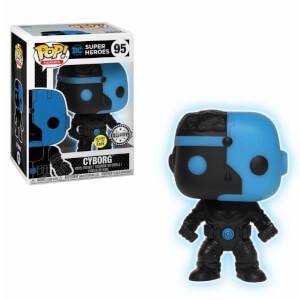 Figura Pop! Vinyl Exclusiva Cyborg Fosforescente - La Liga de la Justicia