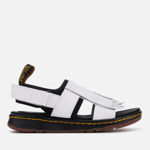 Dr. Martens Women's Rosalind Leather Kiltie Fringe Sandals - White/Black