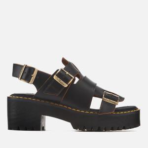 Dr. Martens Women's Ariel Vintage Smooth Leather Heeled Sandals - Black