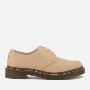 Dr. Martens Women's 1461 Virginia Leather 3-Eye Flat Shoes - Nude