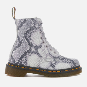 Dr. Martens Women's Pascal Snake 8-Eye Boots - Light Grey