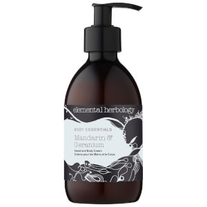Elemental Herbology Mandarin and Geranium Hand and Body Cream 300ml