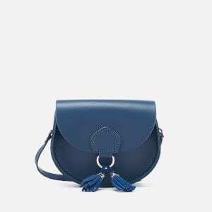 The Cambridge Satchel Company Women's Mini Tassel Bag - Peacock/Ocean Blue Suede