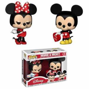 Disney Valentine Mickey and Minnie EXC Pop! Vinyl Figure 2-Pack