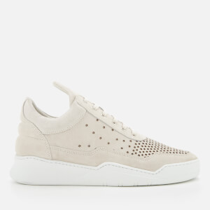 Filling Pieces Men's Ghost Gradient Perforated Low Top Trainers - Off White