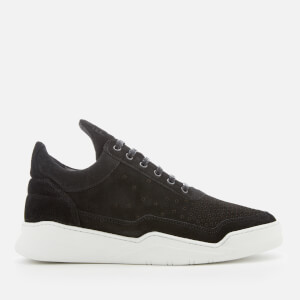Filling Pieces Men's Ghost Gradient Perforated Low Top Trainers - Black