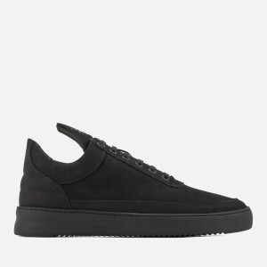 Filling Pieces Men's Ripple Tonal Low Top Trainers - Black