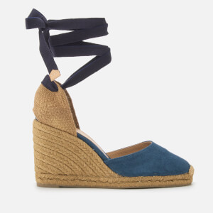 Castañer Women's Carina Wedged Sandals - Azul Marino