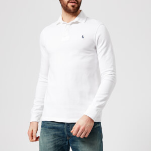 Polo Ralph Lauren Men's Long Sleeve Rugby Top - White