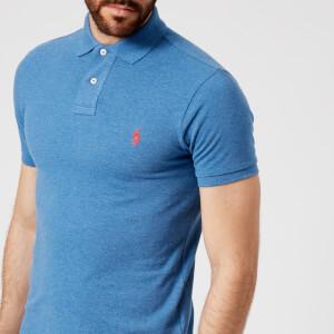 Polo Ralph Lauren Men's Short Sleeve Knit Polo Shirt - Blue Heather