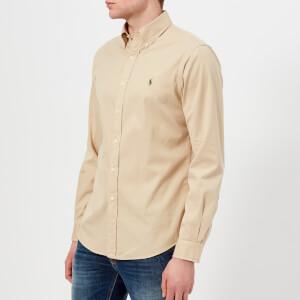 Polo Ralph Lauren Men's Long Sleeve Chino Shirt - Sand Dune