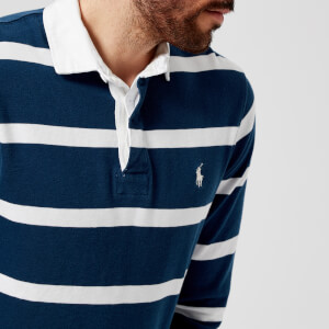 Polo Ralph Lauren Men's Striped Rugby Top - Holiday Navy