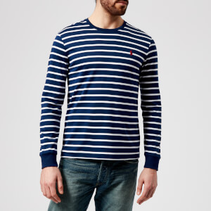 Polo Ralph Lauren Men's Long Sleeve Stripe Top - Fall Royal/White