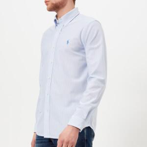 Polo Ralph Lauren Men's Long Sleeve Stripe Shirt - Blue/White