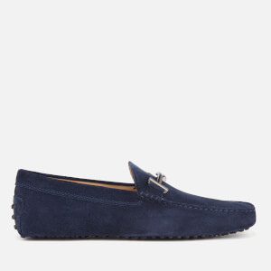 Tod's Men's Suede Gommino Double T Driving Shoes - Navy