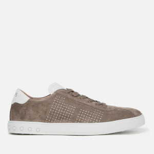 Tod's Men's Suede Perforated Side Trainers - Beige