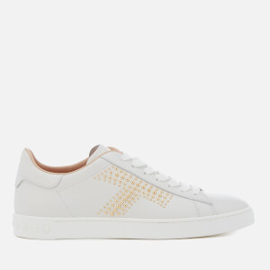 Tod's Women's Cassetta T Stud Trainers - White