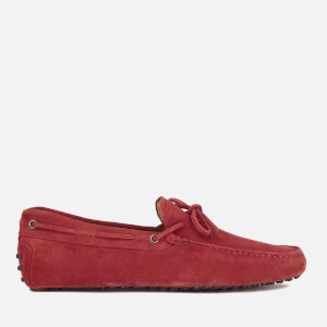 Tod's Men's Gommino Suede Driving Shoes - Red