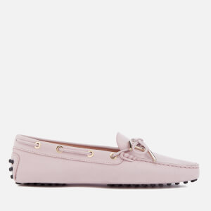 Tod's Women's Suede Gommino Heaven Logo Loafers - Light Pink