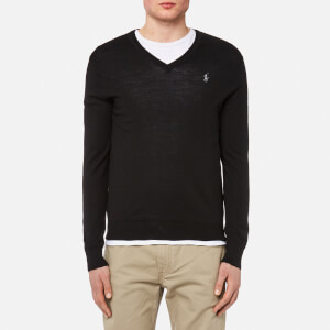 Polo Ralph Lauren Men's Merino Wool V-Neck Jumper - Polo Black