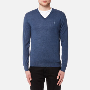 Polo Ralph Lauren Men's Merino Wool Long Sleeve Jumper - Shale Blue Heather