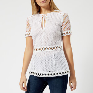 MICHAEL MICHAEL KORS Women's Lace Combo Top - White