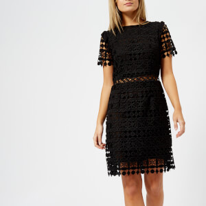 MICHAEL MICHAEL KORS Women's Ruffle Lace Dress - Black