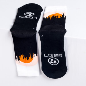 Sako7 New York Skyline Socks - Sunrise