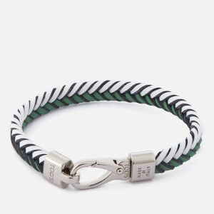 Tod's Men's Leather Pleated Bracelet - Green