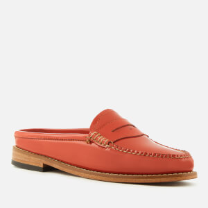 Bass Weejuns Women's Penny Slide Wheel Patent Leather Loafers - Orange: Image 2