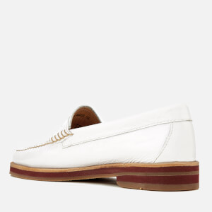 Bass Weejuns Women's Penny Wrinkle Textured Leather Loafers - White: Image 2