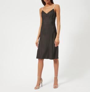Helmut Lang Women's Compact Viscose Slip Dress - Black