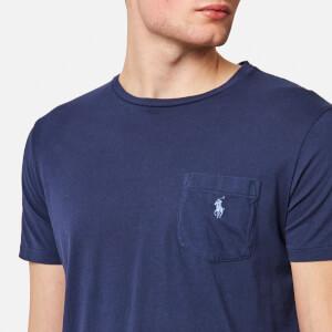 Polo Ralph Lauren Men's Logo Jersey Short Sleeve T-Shirt - Newport Navy: Image 4