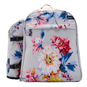 Joules Rucksack and Picnic Set - Grey Whitstable Floral
