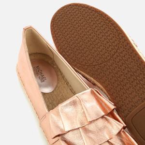 MICHAEL MICHAEL KORS Women's Bella Metallic Leather Espadrilles - Soft Pink: Image 4