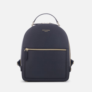 Aspinal of London Women's Mount Street Small Backpack - Navy Elite