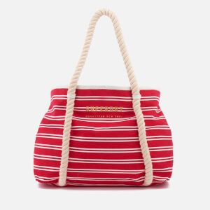 Superdry Women's Bayshore Stripe Beach Tote Bag - Red/White