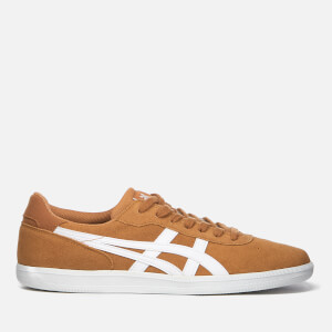 Asics Lifestyle Men's Percussor Suede Court Trainers - Meerkat/White