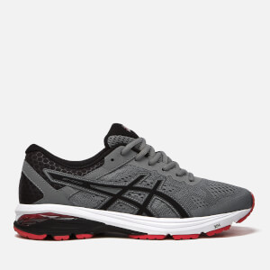 Asics Running Men's GT-1000 6 Trainers - Stone Grey/Black/Classic Red