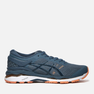 Asics Running Women's Gel-Kayano 24 Trainers - Smoke Blue/Dark Blue/Canteloupe