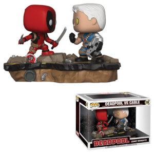 Lot de 2 Figurines Pop! Deadpool vs Cable - Comic Moments
